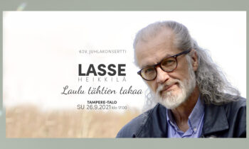 Säveltäjä Lasse Heikkilän Laulu Tähtien takaa 60-vuotis juhlakonsertti Tampere-talossa su 26.9. klo 17.00.